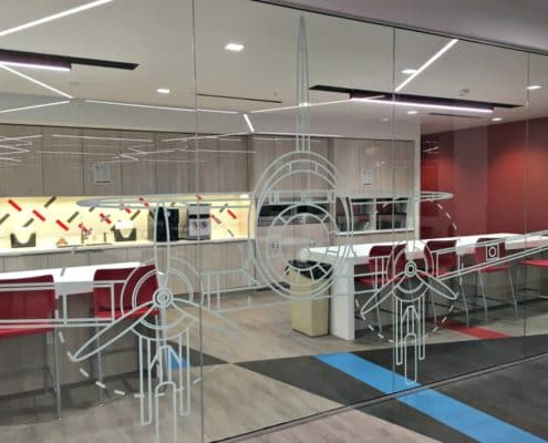 White Lintec in the call center for American Airlines