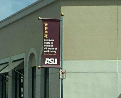 Pole Banners for ASU Alumni