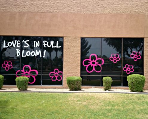Simple but effective window graphics pull customers in.