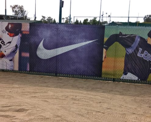 Banner supporting Grand Canyon University Baseball and Nike
