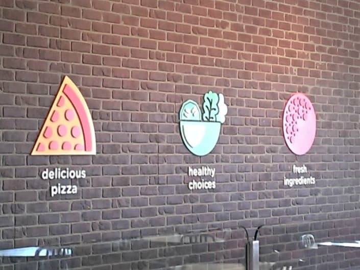 Adding some dimension signage to a wall makes it more interesting.