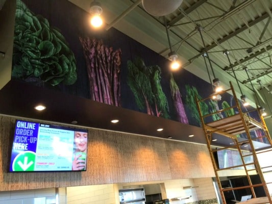 Cool menu boards in Mad Greens