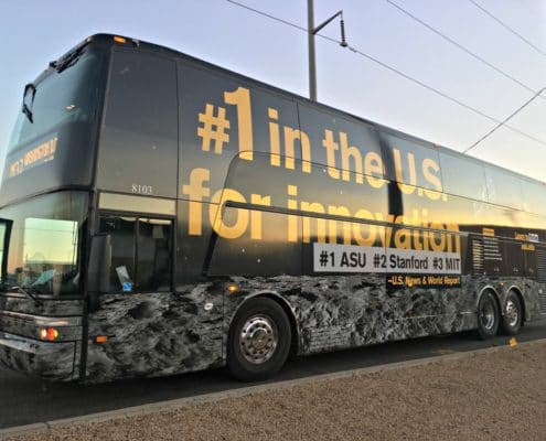 Arizona State University #1 in Innovation wrapped bus looks amazing.