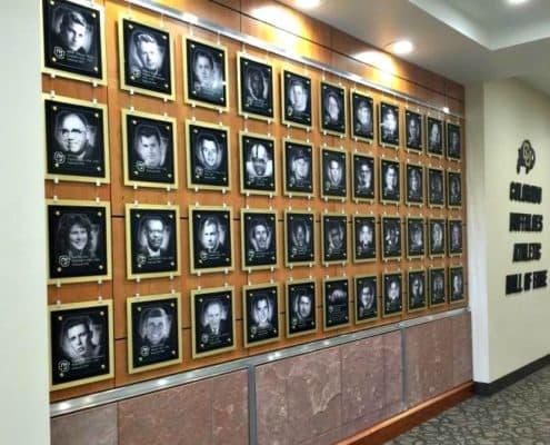 University of Colorado using photographic images on acrylic.