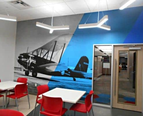 Adding some vintage with new for American Airlines wall mural.