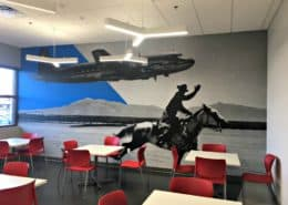 American Airlines Break Room wall mural