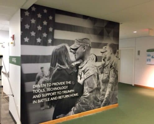 Red White and Blue Wall Mural for the United States Army