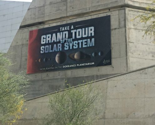 Banner promoting the Solar System IMAX movie