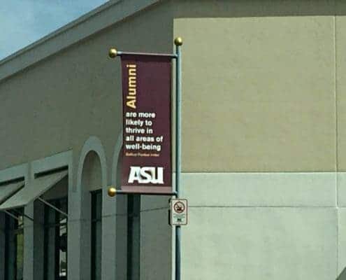 Pole Banners for ASU Alumni