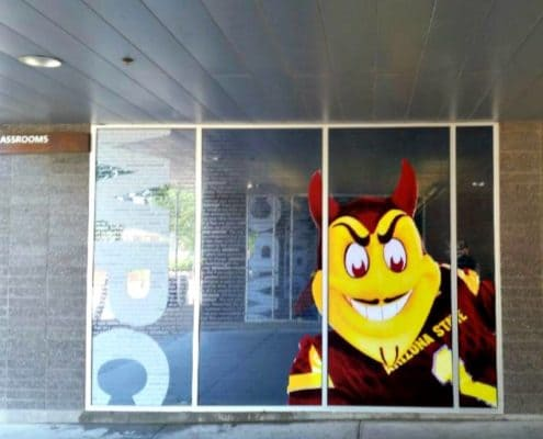 Cool glass decals on the ASU campus