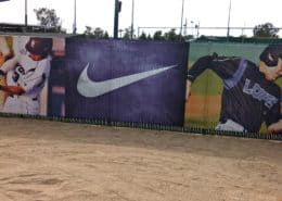 Banner supporting Grand Canyon University Baseball and Nike