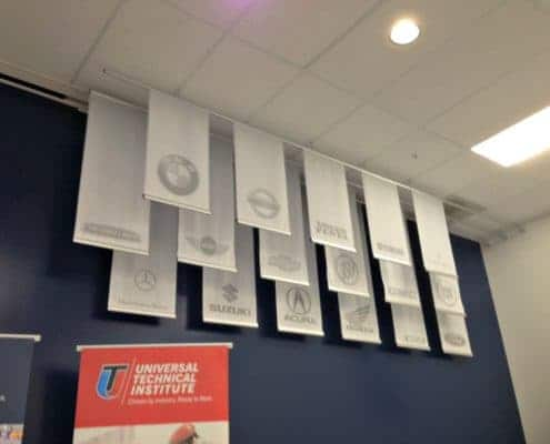 Hanging Banners in the UTI Training Room