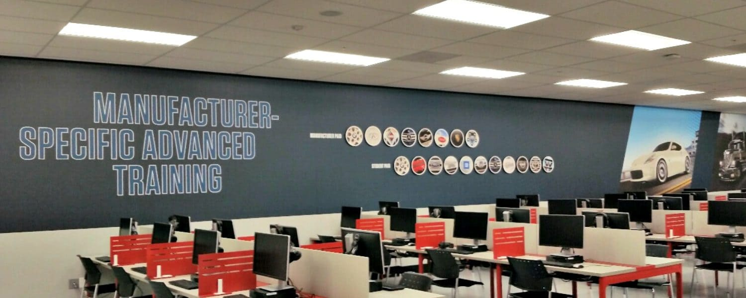Very cool wall mural for Universal Technology Institute