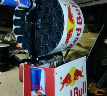 Red Bull Tee Shirt Launcher