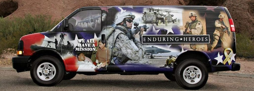 Enduring Heros Vehicle Wrap