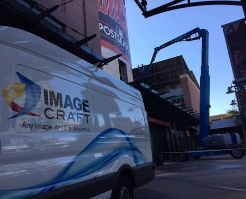 Image Craft shows up for another graphics installation.