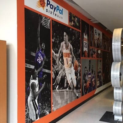 Makor sponsors use wall murals to promote their brand