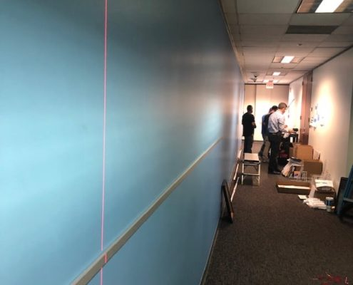 We use all the technology to make sure our graphic installs are perfect.