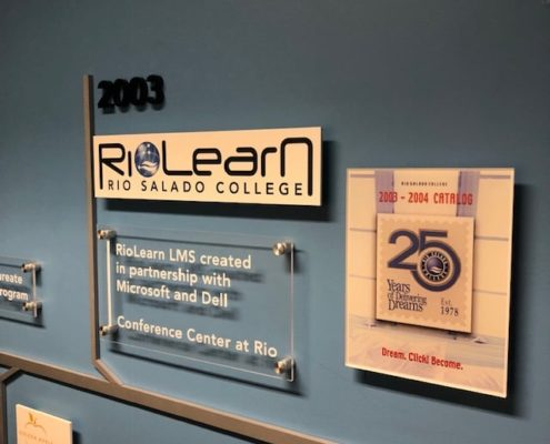 great looking signage at Rio Salado College