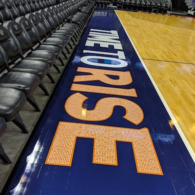New court graphics for the Suns by Image Craft